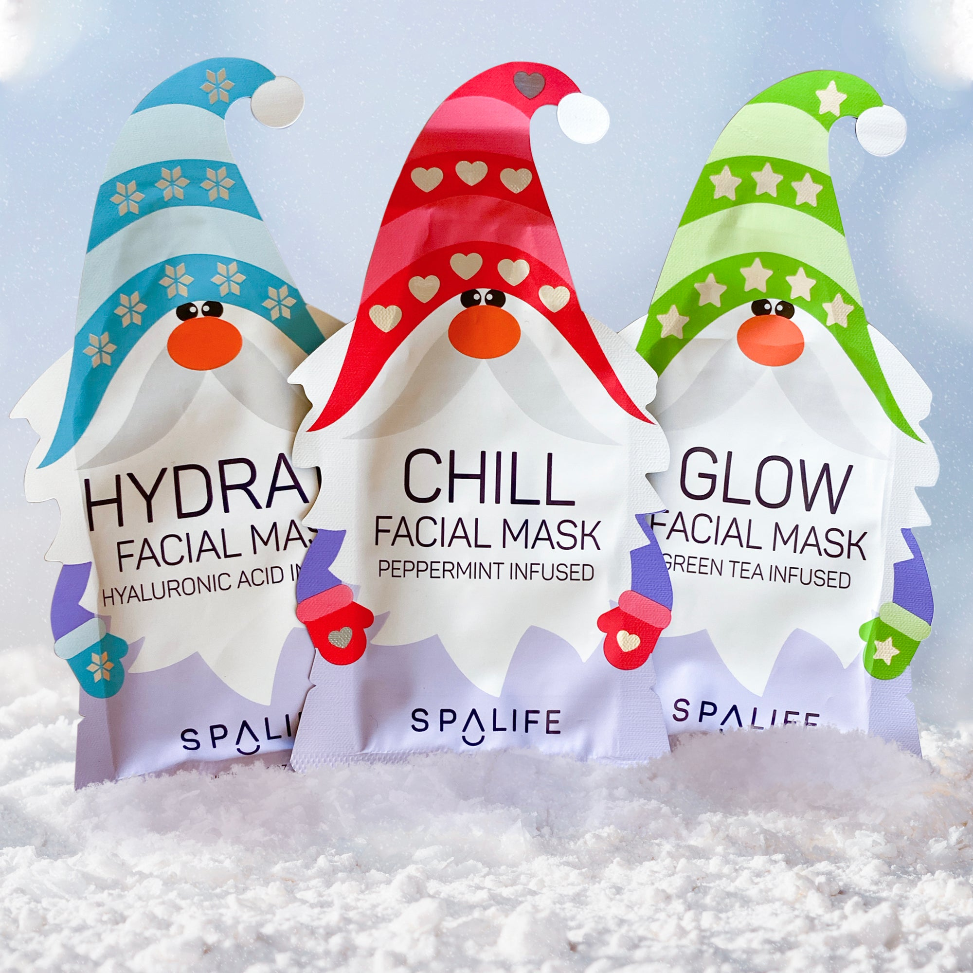 Holiday Gnomes Facial Mask Bundle