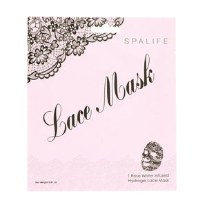 Rose Water Infused Hydrogel Lace Facial Mask