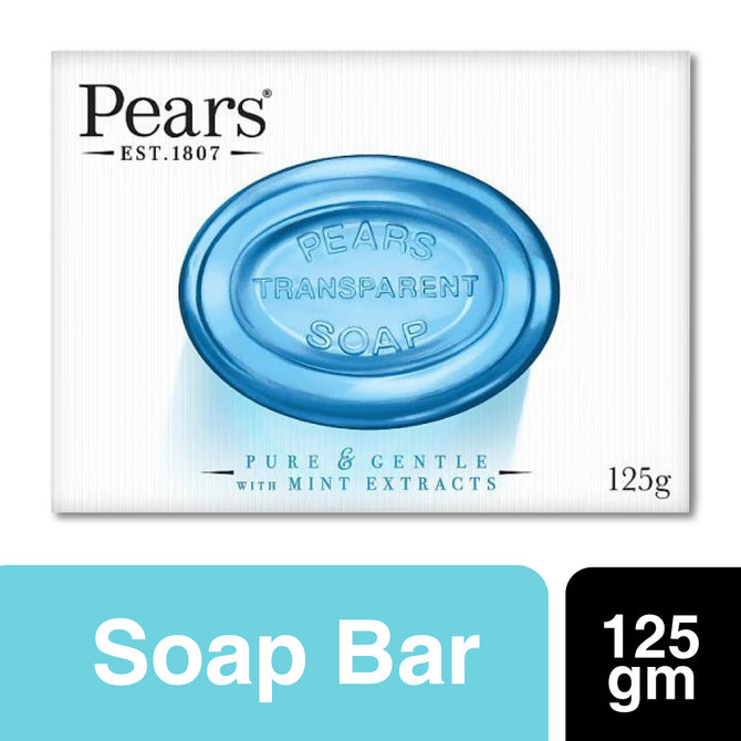 Pears Transparent Soap Pure and Gentle with Mint Extracts 125gm