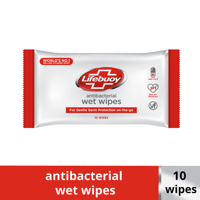 Lifebuoy Antibacterial Wet Wipes 10 Wipes