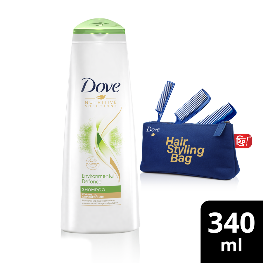 Dove Shampoo Environmental Defense 340ml Bag Free