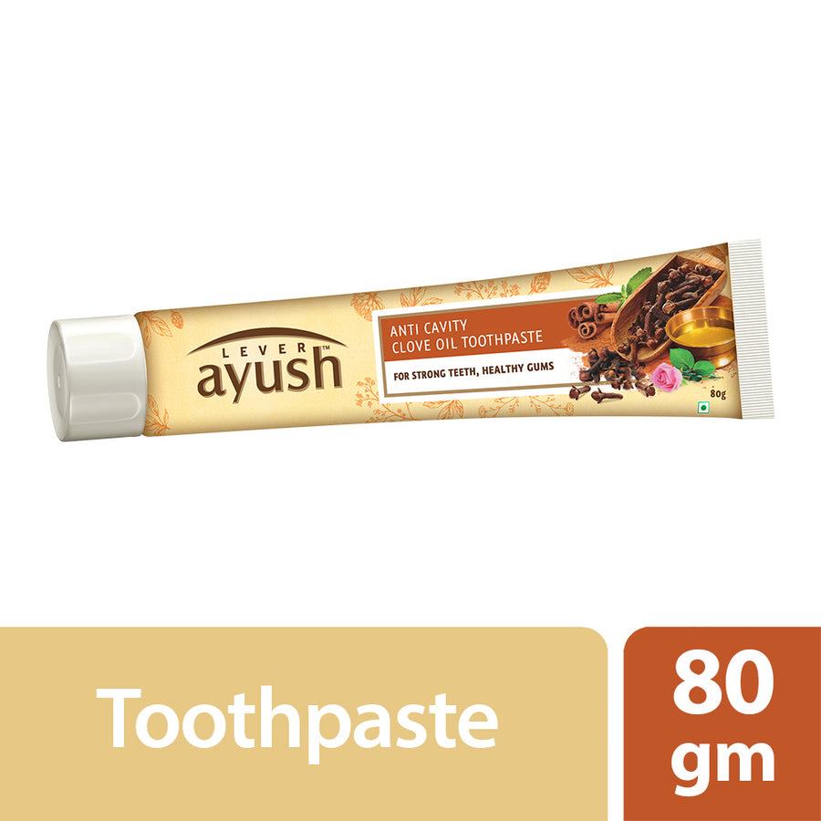 Lever Ayush Toothpaste Anti Cavity Clove Oil 80g