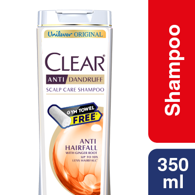 Clear Shampoo Anti Hairfall Anti Dandruff 350ml Towel Free