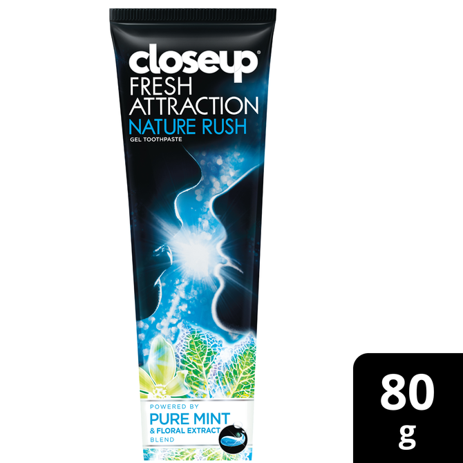 Closeup Toothpaste White Attraction Nature Rush 80g