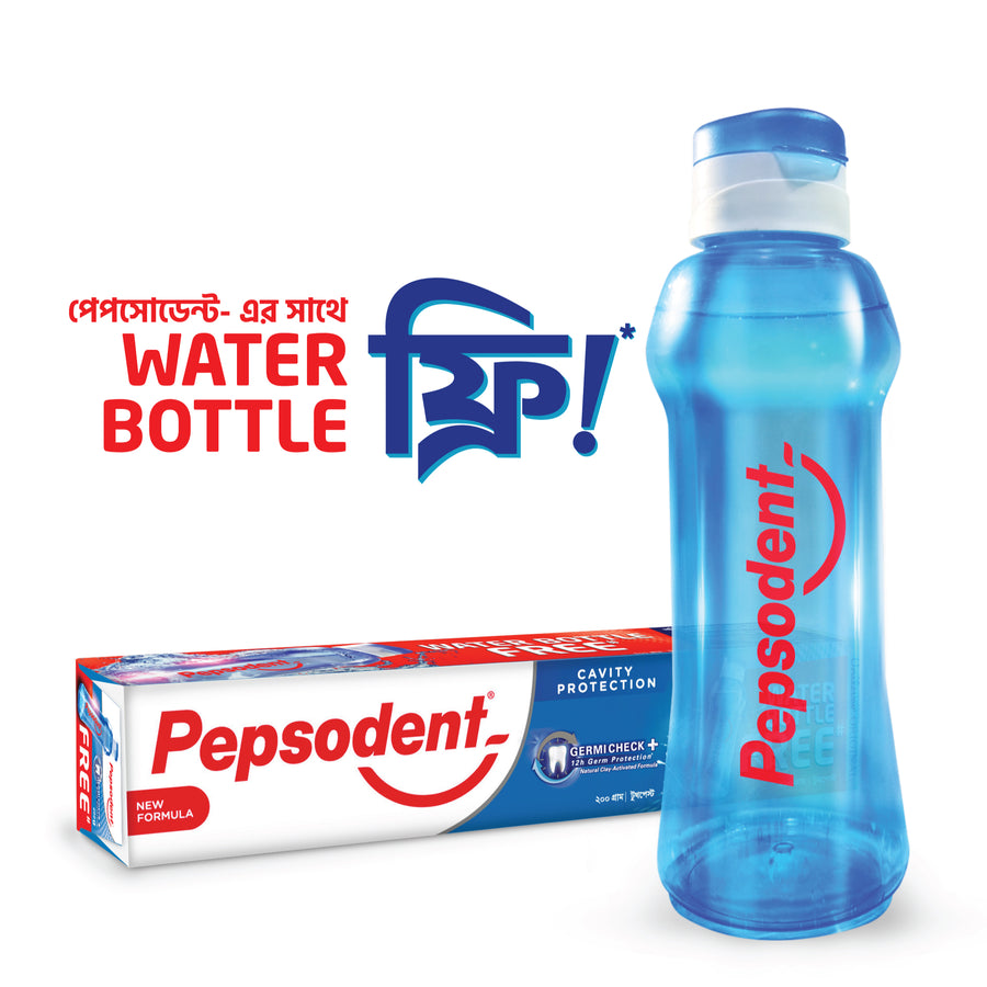 Pepsodent Toothpaste Germi-Check 200g Water Bottle FREE!