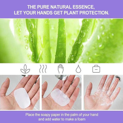 Portable Hand - Washing Paper 5 Boxes (100PCS)