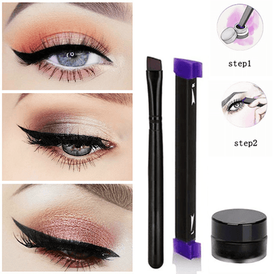 Vamped Winged Eyeliner Stamp Set