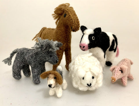 Felt Farm Animal set