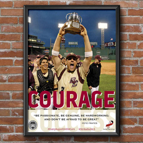 Boston College Eagles Courage Motivational Poster