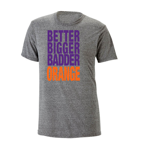 Better Bigger Badder Orange Heathered Tee
