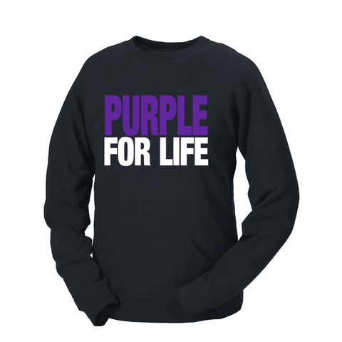 Purple For Life French Terry Crew