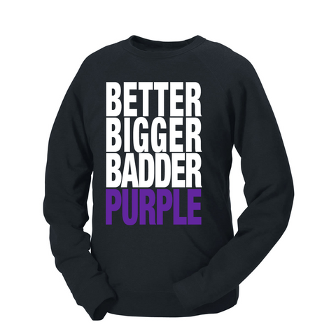 Better Bigger Badder Purple French Terry Crew
