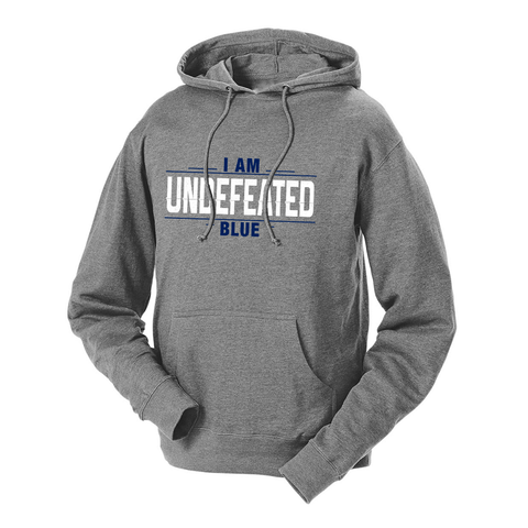 I Am Undefeated Blue French Terry Hoodie