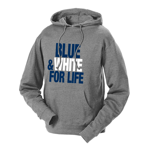 Blue & White For Life French Terry Hoodie