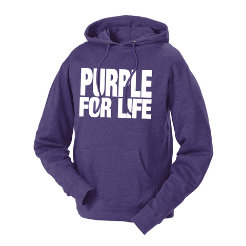 Purple For Life French Terry Hoodie