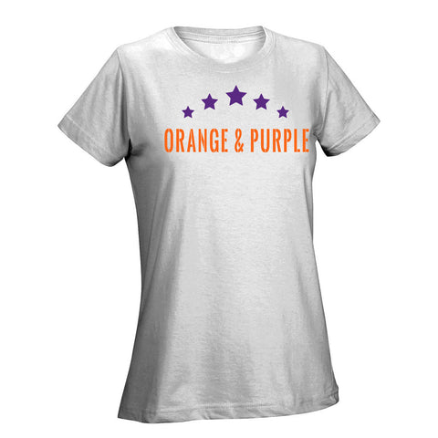 Five Star Orange & Purple Ladies Tee