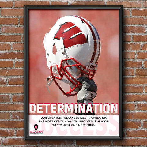 Wisconsin Badgers Determination Motivational Poster