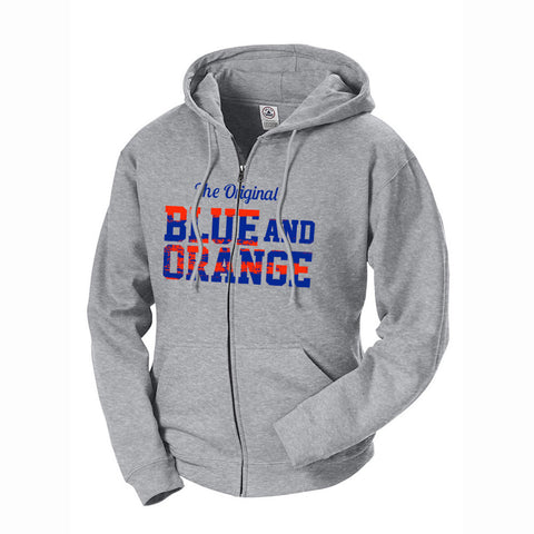 The Original Blue and Orange Terry Zip Hoodie