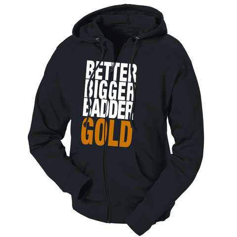 Better Bigger Badder Gold French Terry Hoodie