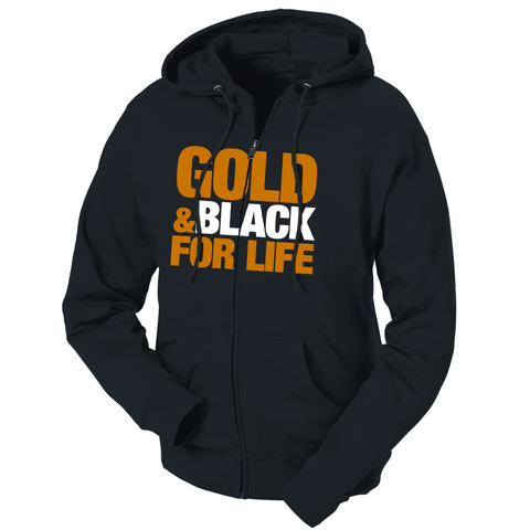 Gold & Black For Life French Terry Hoodie