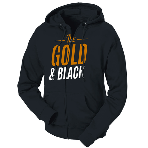 The Gold & Black French Terry Zip Hoodie