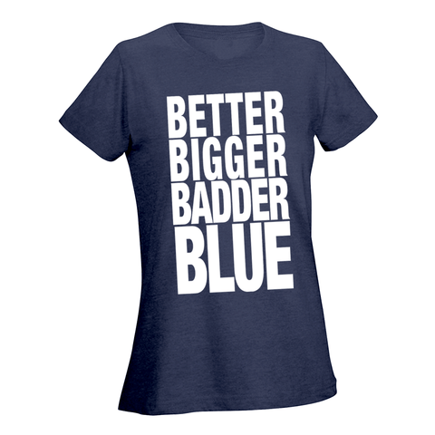I Am Undefeated Blue Ladies Tee