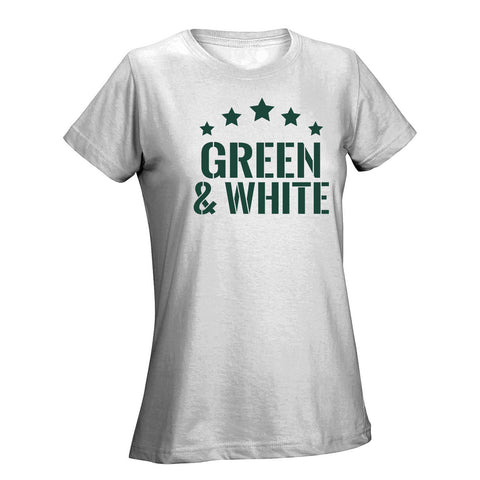 Five Star Green & White Ladies Tee