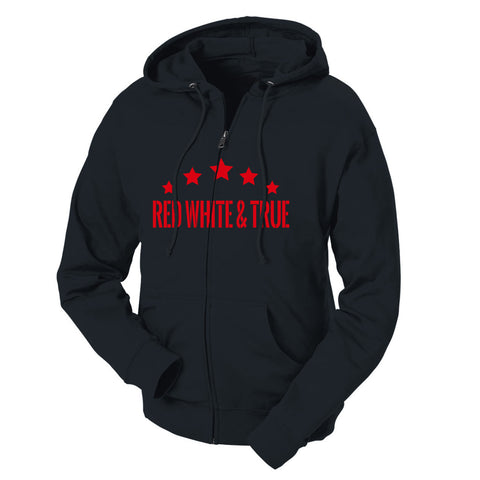 Five Star Red French Terry Zip Hoodie