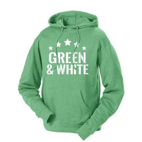 Five Star Green & White French Terry Hoodie