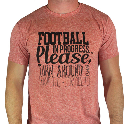 Football In Progress Heathered Tee