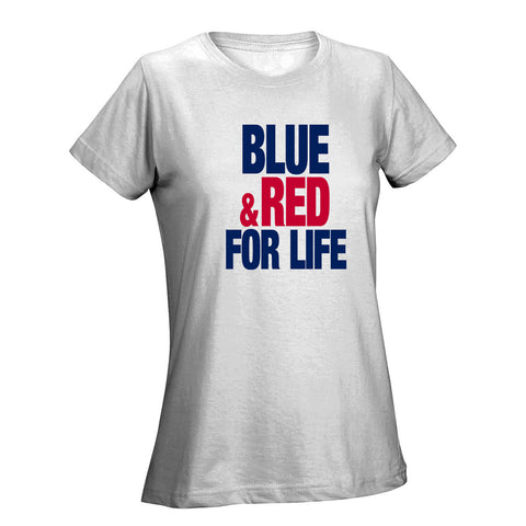 Blue & Red For Life Ladies Tee