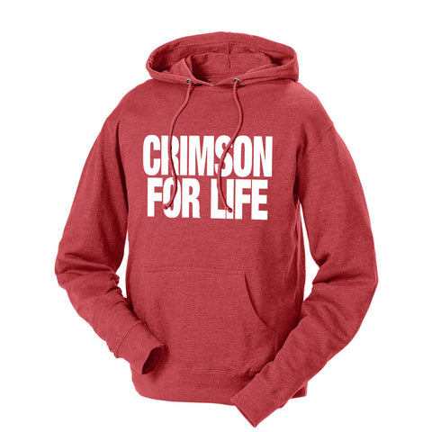 Crimson For Life French Terry Hoodie
