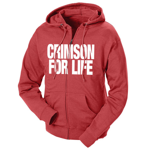 Crimson For Life French Terry Zip Hoodie
