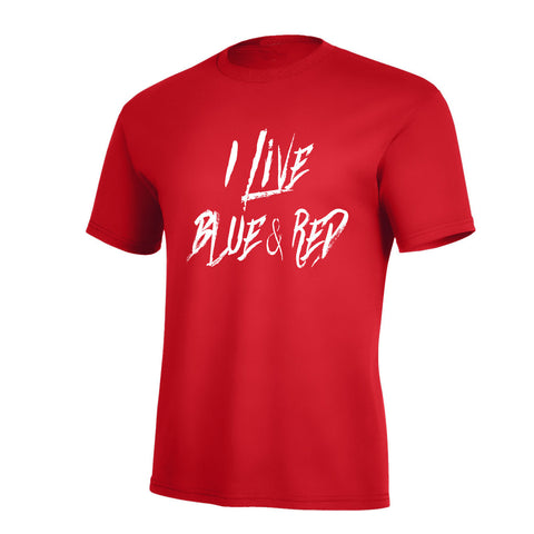 I Live Blue & Red Pro Tee