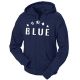 Five Star Blue French Terry Zip Hoodie
