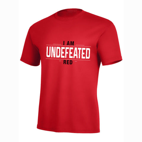 I Am Undefeated Red Pro Tee
