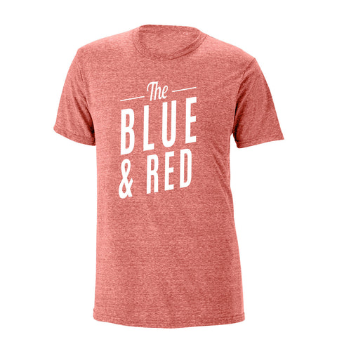 The Blue & Red Heathered Tee