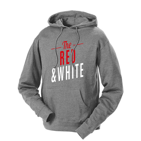 The Red & White French Terry Hoodie