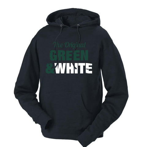The Original Green & White French Terry Hoodie