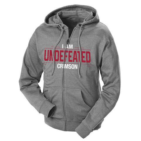 I Am Undefeated Crimson French Terry Zip Hoodie