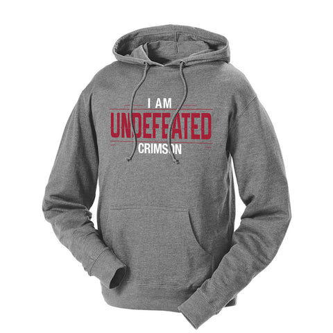 I Am Undefeated Crimson French Terry Hoodie
