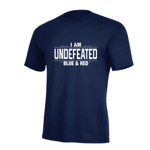 I Am Undefeated Red & Blue Pro Tee