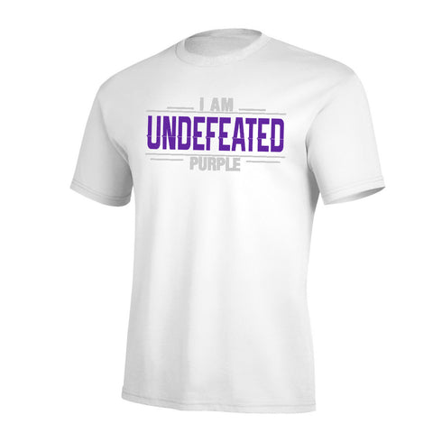 I Am Undefeated Purple Pro Tee