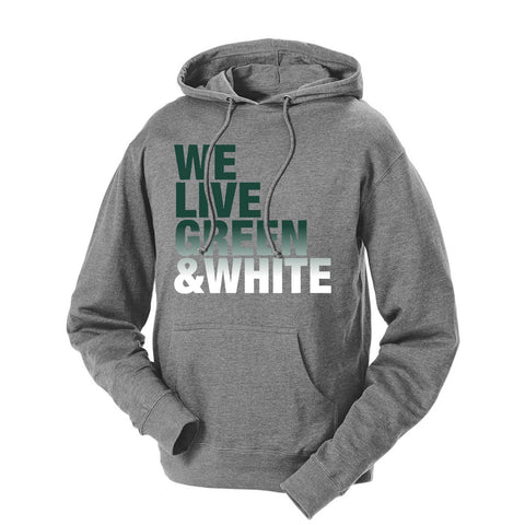 We Live Green & White French Terry Hoodie