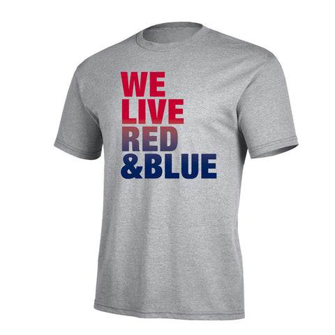 We Live Red & Blue Pro Tee