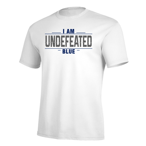 I Am Undefeated Blue Pro Tee