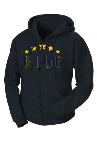 Five Star Maize & Blue French Terry Zip Hoodie