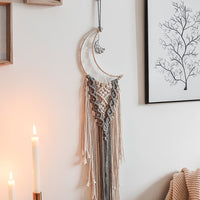 Crescent Moonlight Macramé Dreamcatcher