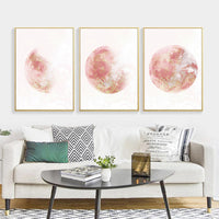 Pink Moon Canvas Posters