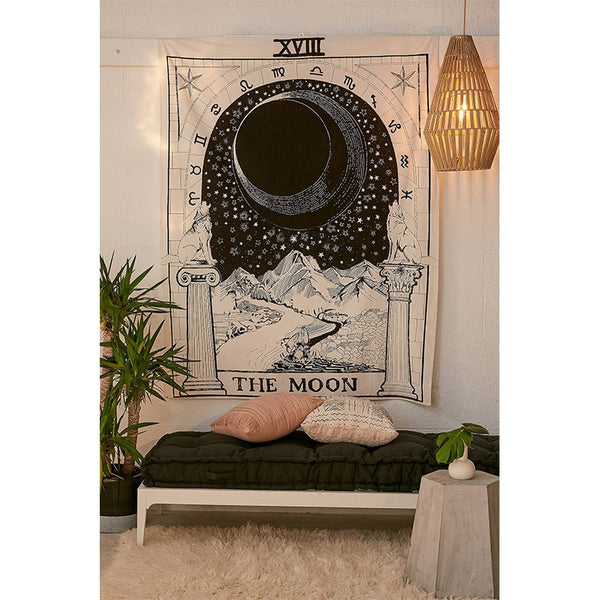 XL Zodiac Crescent Moon Tapestry